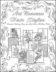 s mac u0027s art nouveau hair styles downloadable coloring book s