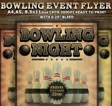 bowling event party flyer template startupstacks com