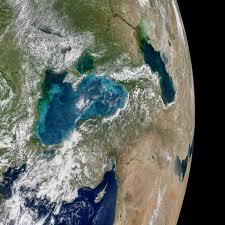 Where Is The Black Sand Beach Turquoise Swirls In The Black Sea Nasa