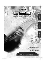 yamaha manuals yamaha g50 user manual 36 pages