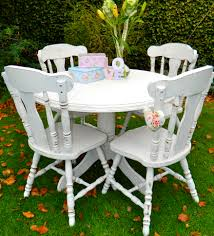 shabby chic round dining table shabby chic round pedestal dining table and 4 chairs norfolk