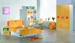 modern wardrobe designs for childrens room with yellow and white