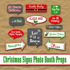 christmas photo booth props christmas signs photo booth props printable includes 30