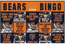 Funny Chicago Bears Memes - chicago bears bingo week 17 2012 lions the heckler