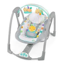 portable baby swing with lights folding baby bouncer bright starts taggies swing and go portable