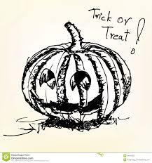 halloween pumpkin sketch vector royalty free stock photo image