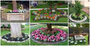 fascinating flower beds around tree ideas for your yard