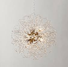 Teen Chandeliers Josie Crystal Small Pendant Antiqued Brass