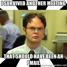 Work Meeting Meme - 5 ways webinars and video can replace workplace meetings