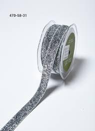 silver glitter ribbon 5 8 inch silver glitter elastic ribbon buy ribbons online