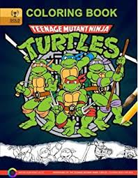 teenage mutant ninja turtles coloring book kids coloring