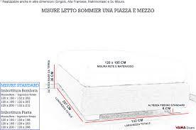 materasso piazza e mezza misure emejing materasso una piazza e mezza misure pictures design