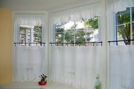Cafe Tier Curtains Custom Cafe Tier Curtains For Bay Window Rings And Ring