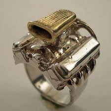 rings car engine images Jewelry for gearheads jewlery pinterest hot rods jewelry jpg