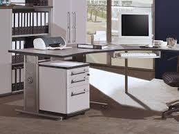 Schreibtisch Winkelkombination H Enverstellbar Pro Büro Arbeitstisch Höhenverstellbar In Lichtgrau 100 X 70 80 X