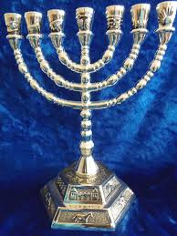menorah 7 branch tribes of israel emblems 7 branch temple menorah silver 6 25