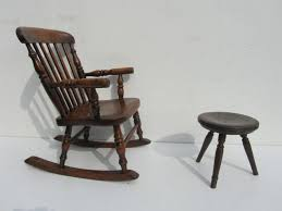 Oak Rocking Chairs Furniture Extraordinary Early Antique Wooden Rocking Chair Five
