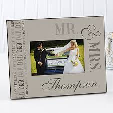 personalized wedding photo frame personalized wedding picture frames we said i do
