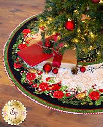 christmas skirt christmas in the wildwood tree skirt kit