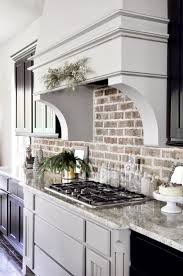 picture of backsplash kitchen kitchen kitchen with brick backsplash lovely kitchen design