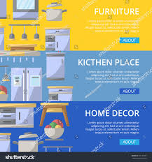 kitchen place poster set home interior stock vector 737185327