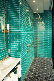 turquoise tile bathroom steely with style teal elegant and double shower