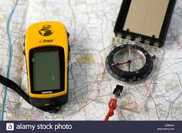 Map Compass Map Compass And Gps Stock Photo Royalty Free Image 18684671 Alamy