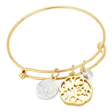 bangle charm bracelet gold images Gold mom bracelet rosemarie collections jpg