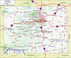 Canon City Colorado Map by Detailed Map Of Colorado Adriftskateshop