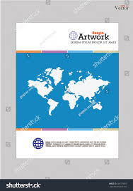 Map Book Template Template World Map Book Cover Stock Vector 284779667