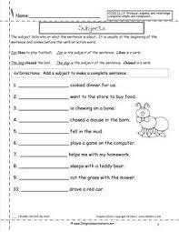 subject and predicate worksheet u2026 pinteres u2026