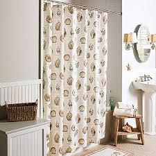 Seashell Shower Curtains Better Homes And Gardens Shells Shower Curtain Walmart