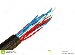 multicolored electric wires in the tube stock photo image 36344814