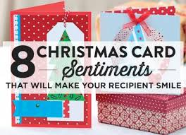 8 christmas card sentiments that will make your recipient smile
