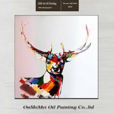 home decor paintings handmade abstract deer animals picture hang