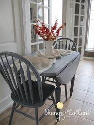 drop leaf table set in custom color mix of safe paint breakfast