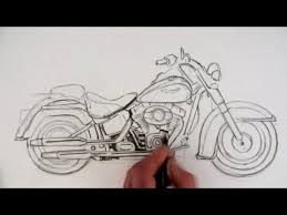 how to draw a harley davidson motorcycle time lapse youtube