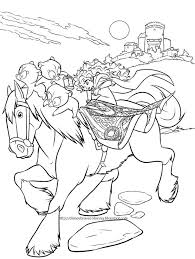 Cartoon Brave Coloring Pages Cartoons Disney Brave Coloring Pages