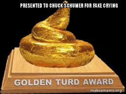 presented to chuck schumer for fake crying make a meme