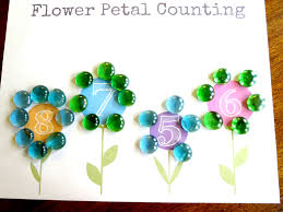 plant theme preschool math flower petal counting free printable