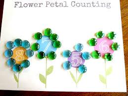 plant theme preschool math flower petal counting free printable
