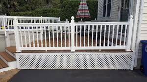 Decking Banister Braintree Decking Contractor Trex Decking Railings Lattice