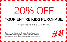 kitchen collection printable coupons 20 off h u0026m printable coupon valid march 21st to april 4th 2013