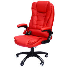 Leather Executive Desk Chair Homcom Executive Ergonomic Heated Vibrating Massaging Office Chair