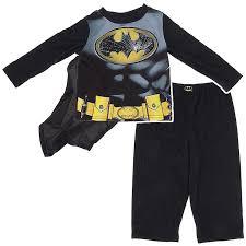 halloween pjs for girls amazon com batman pajamas with cape for toddler boys pajama sets