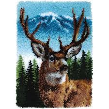 wonderart classics deer latch hook kit 20 x 30