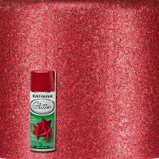 rust oleum specialty 10 25 oz red glitter spray paint 268045