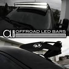 50 inch dual stacked led light bars complete setup for toyota trucks