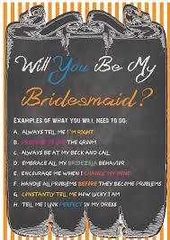 Wedding Coordinator Job Description Will You Be My Bridesmaid Card With Complete Job Description