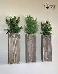 planters that hang on the wall diy modern farmhouse wall planters shanty 2 chic